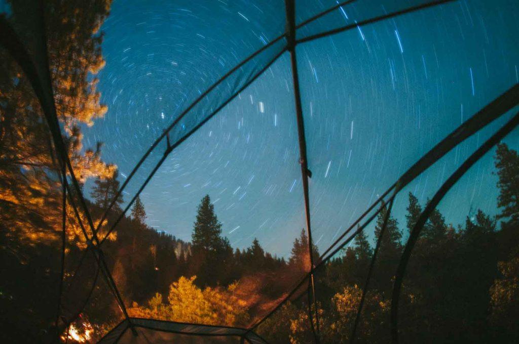 Şeffaf kamp çadırı